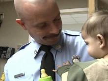 Firefighters Fan Holiday Spirit at Burn Center