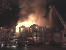 Blaze Rips Cary Apartment Complex
