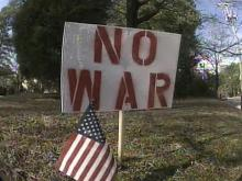 Army Wife's Anti-War Signs Draw Fire