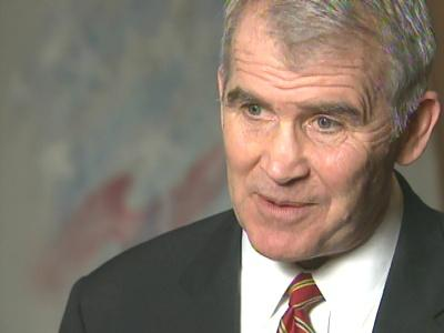In the Triangle Tuesday, conservative political commentator Oliver North questioned the president's decision to send more troops to Iraq.