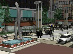 A new city plan would create a Fayetteville Street plaza emphasizing business attractions around it as much as what is in it.