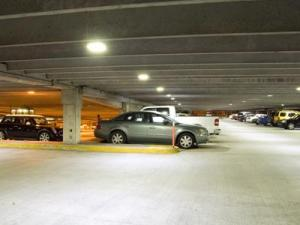 One Raleigh parking deck was switched to LED lighting last year.