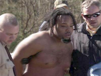 Alonza Hunter is arrested by Nash County authorities after a manhunt Thursday.