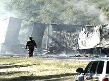 2 Killed in Fiery Tractor-Trailer Crash