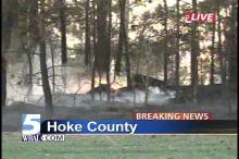 Wind-whipped fires damaged several homes in a Hoke County community in one of several brush fires that kept crews busy in Hoke, Moore, Johnston and Wake counties.