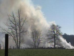 A large stump dump is on fire in the Loop Road vicinity of Johnston County.