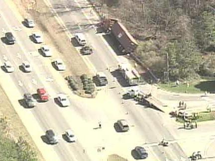 3 Cars, Tractor-Trailer in Cary Accident