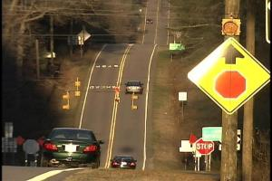 What was a stop one-way, slow-the-other-way intersection at N.C. 39 and N.C. 97 is now a four-way stop because of accidents.