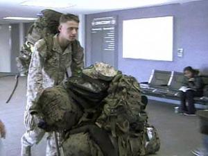 Soldiers Stranded by Snowstorm Sleep at RDU