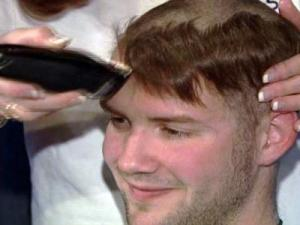 Canes' Cam Ward Goes Bald for Cancer Research