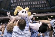 UNC cheerleader Jason Ray, who portrayed team mascot Rameses, died after being hit by a sport utility vehicle while attending the Tar Heels appearance in the NCAA Tournament.