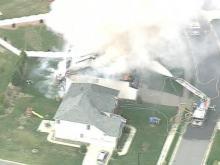 Sky 5 Video of Brier Creek Fire