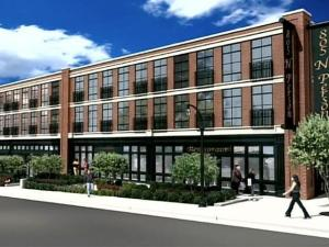 The proposal for a residential and commercial redevelopment project on the northern edge of downtown Raleigh faces a hearing before a City Council committee on April 10, 2007.