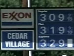 Unleaded regular was posted at $3.09 a gallon on Friday, April 13, 2007, at Cedar Village Exxon in Chapel Hill.