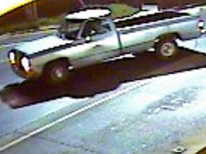 Surveillance cameras captured images of a truck used in the theft of an ATM from a Raleigh restaurant.