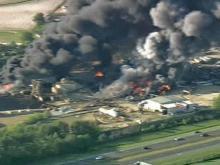 Sky 5 Coverage of Scrap Metal Fires (unedited)