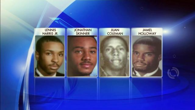 Lennis Harris Jr., Jonathan Skinner, Juan Coleman and Jamel Holloway were found shot to death inside a Durham townhouse on Nov. 19, 2005.