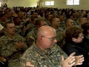 Members of the Army Reserve's 535th MP Battalion said goodbye to loved ones and friends on Sunday, May 20, 2007, and departed for duty in Iraq for a minimum of 388 days.
