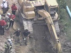 Authorities say a worker in Holly Springs was killed Wednesday when a construction trench caved in on him.