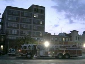 Firefighters battled flames Thursday morning at a seven-story building in downtown Durham.