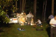 Two teenagers were taken to the hospital after crashing a stolen car in north Raleigh. Investigators are trying to figure out if the teens are responsible for another stolen vehicle in the area. J.L. Hall was at the accident and took several images of the aftermath.