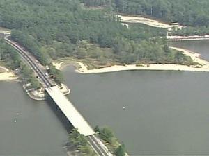 Falls Lake aerial image