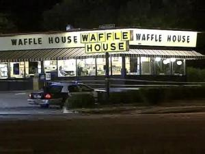 Authorities say one person was wounded at a Waffle House restaurant in Raleigh.