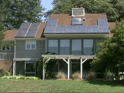 The Solar House at North Carolina State University runs entirely off solar energy. A bill being considered in the state Senate would require power companies to produce alternative energy before 2018.