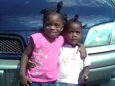 Miracle McLean, right, with her older sister, Zahane. (Photo courtesy of Carolyn Tolson)