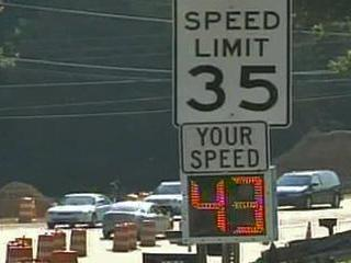 The Cary Police Department is using sensors to track speeders on selected roads in the town.