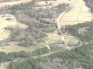 Sky 5 footage of land Cary would like to acquire through its new land banking program.