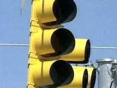Authorities say Tuesday's storm knocked out several traffic lights near downtown Raleigh.