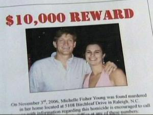 Progress Energy is offering a $10,000 reward in the murder case of one of its employees, Michelle Young.