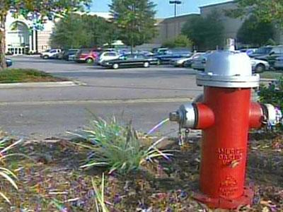 Thousands of residential and business customers lost water service when Crabtree Valley Mall opened 11 fire hydrants to flush its lines on Wednesday, July 18, 2007.