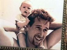 Eric Miller with his daughter, Clare, in an undated photo. Miller died in 2000 from arsenic poisoning.