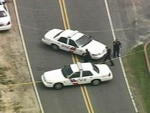 Sky 5 Coverage of Body at Car Dealership