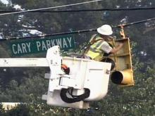 Wreck Leaves Cary Power Customers Without AC