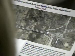 The project would shut down the river crossing on Falls of Neuse Road for two years for a replacement project.