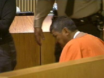 Pastor Rios Sanchez in court in October 2006.