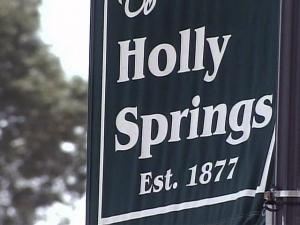 Holly Springs flag, Holly Springs sign
