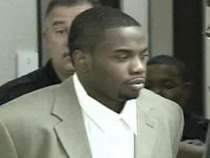 Andrew Deshawn Canty, 20, is led into a  courtroom Monday, Aug. 27, 2007. Canty pleaded guilty to first-degree murder in connection with the Dec. 18, 2005, death of Clayton naval reservist Paul Berkley, who died after being shot at Millbrook Exchange Park in Raleigh.