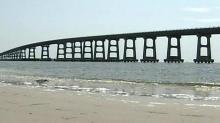 IMAGE: Bonner Bridge repairs begin