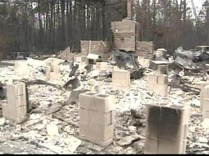 A brush fire is what destroyed this Duplin County home.