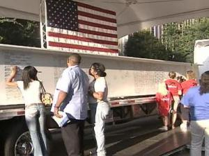 Photos, artifacts and a girder that will be used in building the 9/11 Memorial in New York City and that will carry the signatures of Triangle residents are in an exhibit that is at Raleigh City Hall through Sunday.