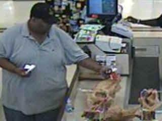 Cary police are searching for the man in this surveillance photo who is wanted in connection with a string of credit card thefts in Raleigh and Cary.