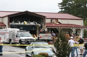 Images from the McCall's BBQ Plane Crash Scene. Photo by WRAL's Al Robinson.