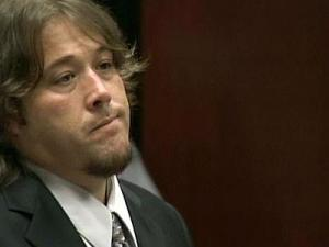 "Singer Matthew Shafer, known as ""Uncle Kracker,"" appears in a Wake County courtroom, Friday, Sept. 28, 2007, to enter a plea in connection with a sex offense case."