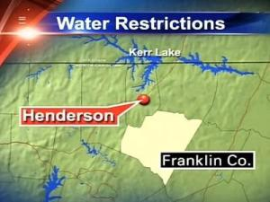 The town of Henderson and Franklin County, which draw water for their systems from Kerr Lake, are watching carefully. Franklin is getting restrictions ready in case they are needed.