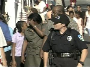 Nearly 40 police officers patrolled Festifall along Franklin Street on Sunday.