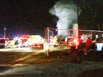 No Injuries in Creedmoor Lumber Yard Fire